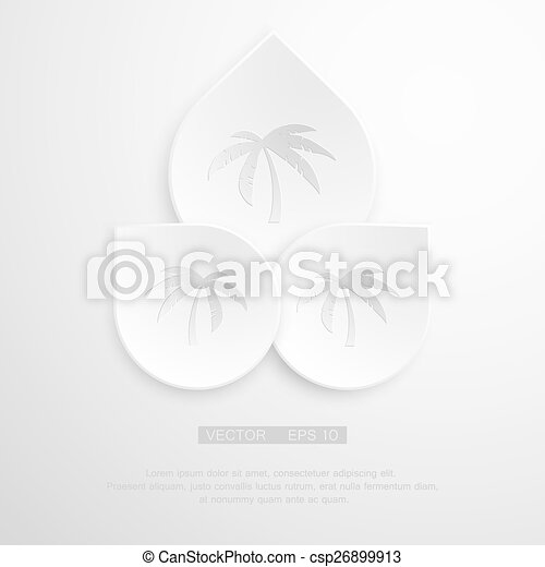 Palm Tree Sign Icon Travel Trip Symbol Gray Flat Button With
