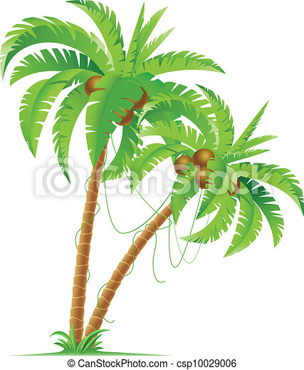 Palm Tree Clipartby Jamesstar11/403 Palm Tree   Two Palm Trees.  Illustration For Design On White.