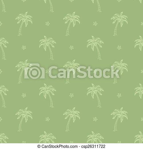 palm trees pattern - csp26311722