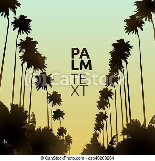 Palm vector background - csp40203264