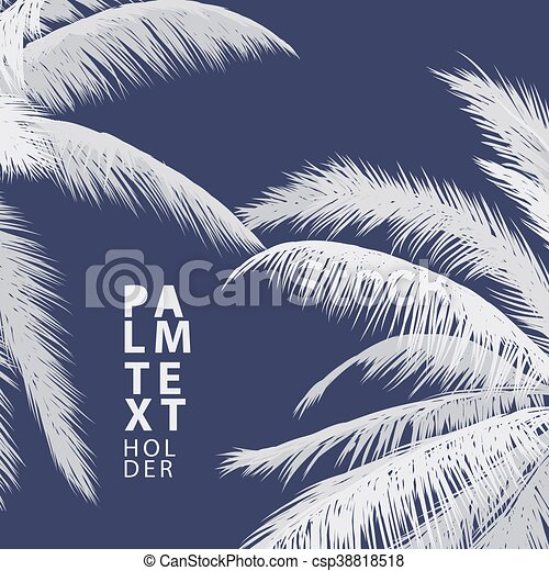 Palm vector background - csp38818518