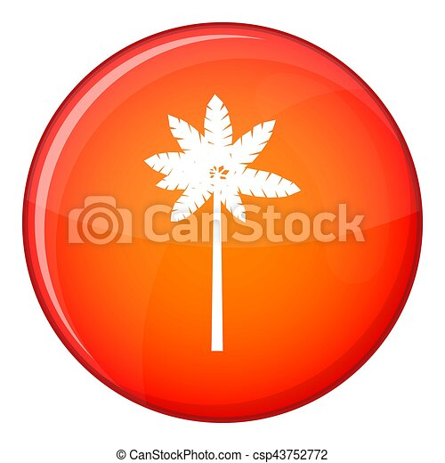Palm woody plant icon, flat style - csp43752772