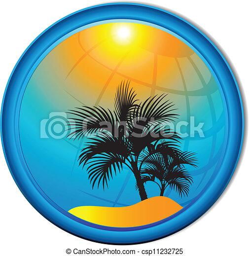 palma, butto, turismo, albero, fondo - csp11232725