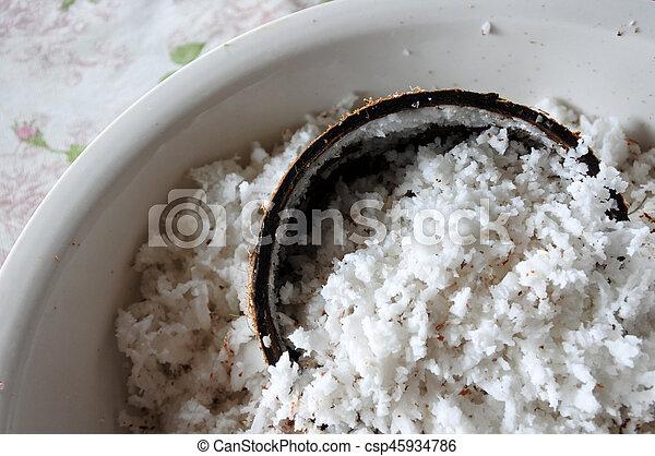 palma, noce di cocco, frutta, fiocchi - csp45934786