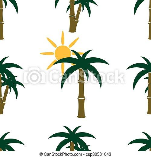 Patrón de palmera sin costura - csp30581043