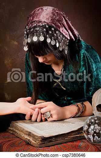 Palmistry hand-reading - csp7380646