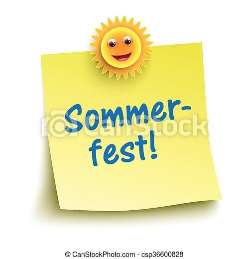 Sommerfest de palitos amarillos - csp36600828
