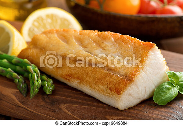 Pan Seared Fish - csp19649884