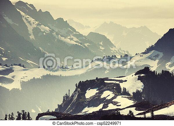 Área del monte Baker - csp52249971