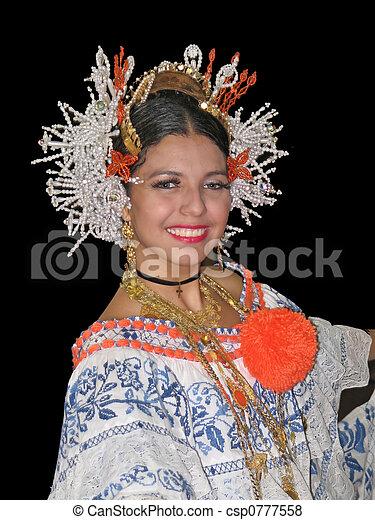 Panama Bailarin Bastante Hermoso Bailando Panama Tradicional