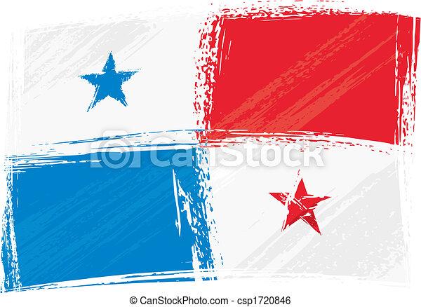 panamá, grunge, bandera - csp1720846