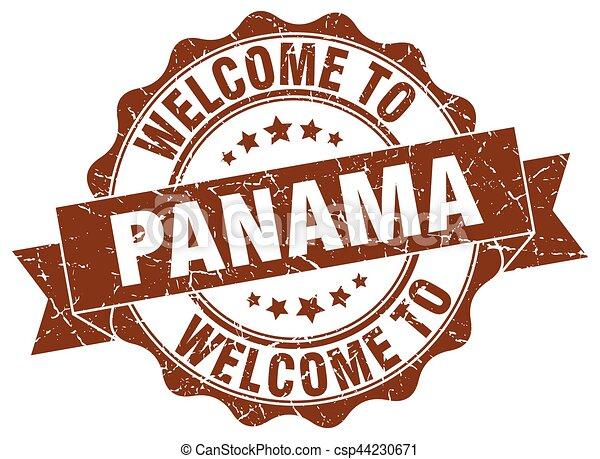panamá, redondo, cinta, sello - csp44230671
