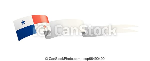 Panama flag, vector illustration on a white background - csp66490490