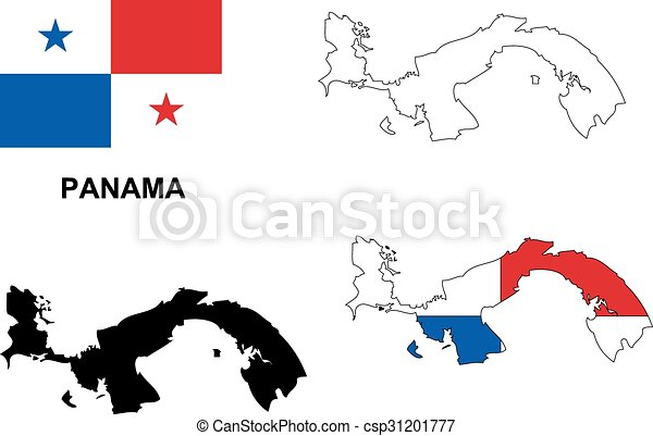 Panama Map Vector Panama Flag Vector Isolated Panama Vectors - Panama map vector