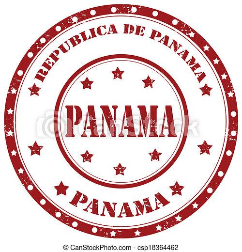 panama-stamp - csp18364462