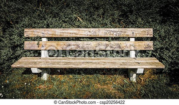 panca, parco, vista frontale - csp20256422