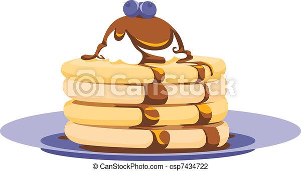Pancake Stack Vector Illustration - csp7434722