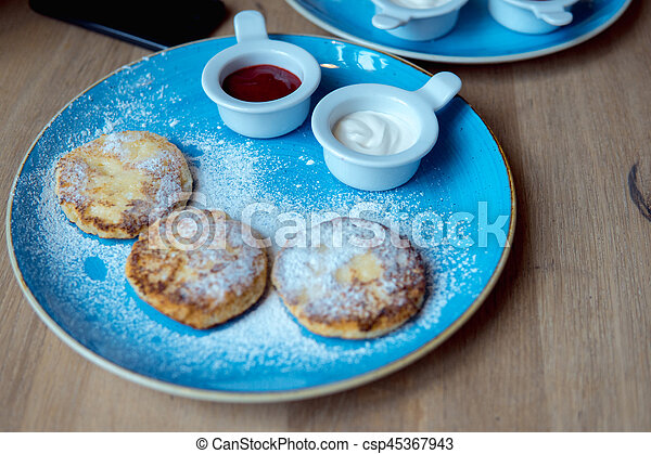 pancakes on a plate - csp45367943