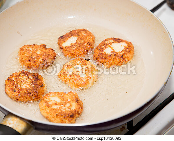 pancakes on a white background - csp18430093