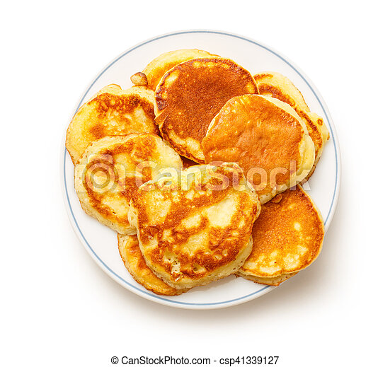 Pancakes on the white plate - csp41339127