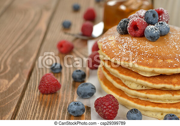 Pancakes with berries - csp29399789