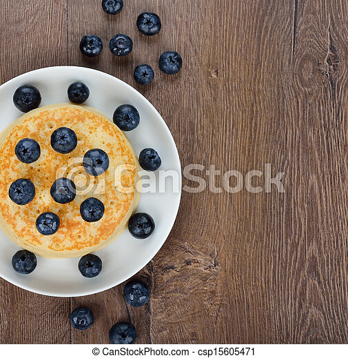 Pancakes with blueberries - csp15605471