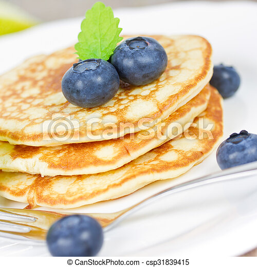 pancakes with blueberries - csp31839415