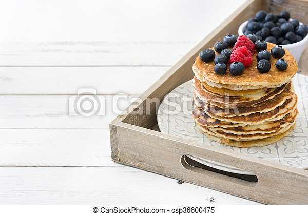 Pancakes with blueberries - csp36600475