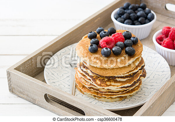 Pancakes with blueberries - csp36600478