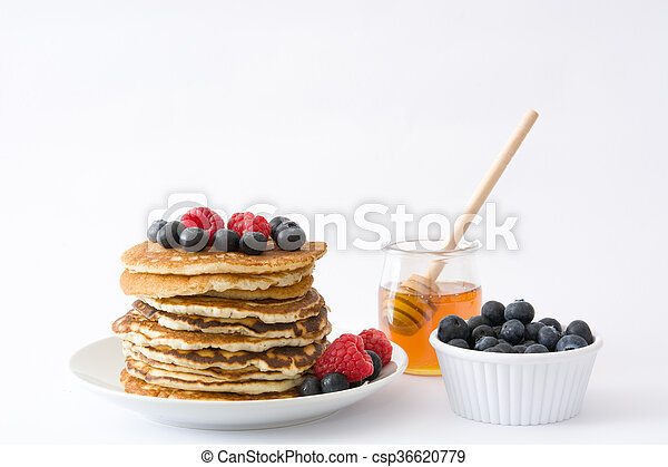 Pancakes with blueberries - csp36620779