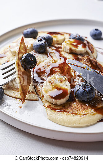 pancakes with blueberries - csp74820914