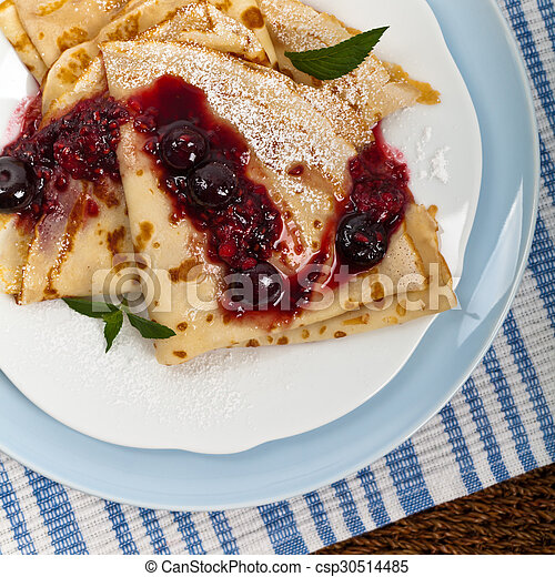 Pancakes with Blueberries - csp30514485