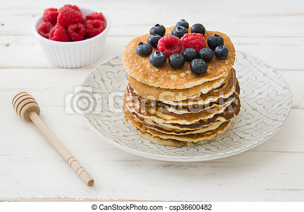 Pancakes with blueberries - csp36600482