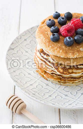 Pancakes with blueberries - csp36600486
