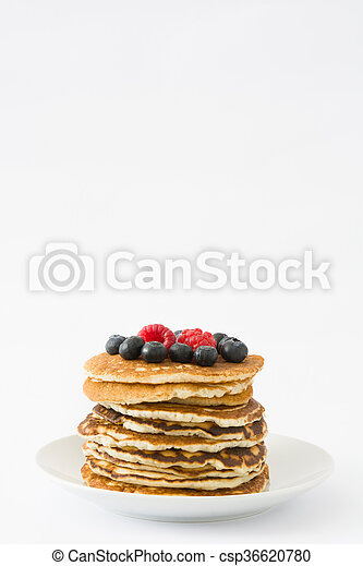 Pancakes with blueberries - csp36620780
