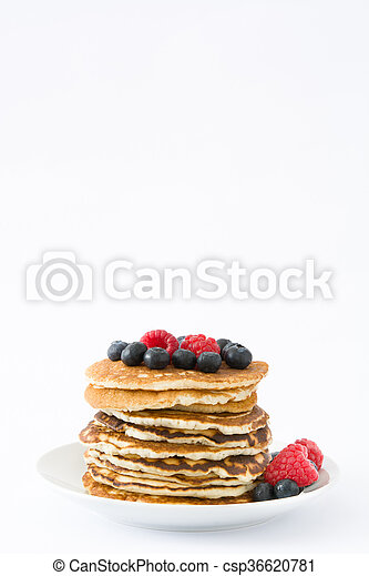 Pancakes with blueberries - csp36620781