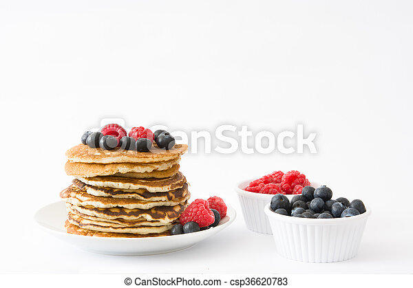 Pancakes with blueberries - csp36620783