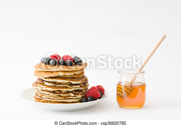 Pancakes with blueberries - csp36620785
