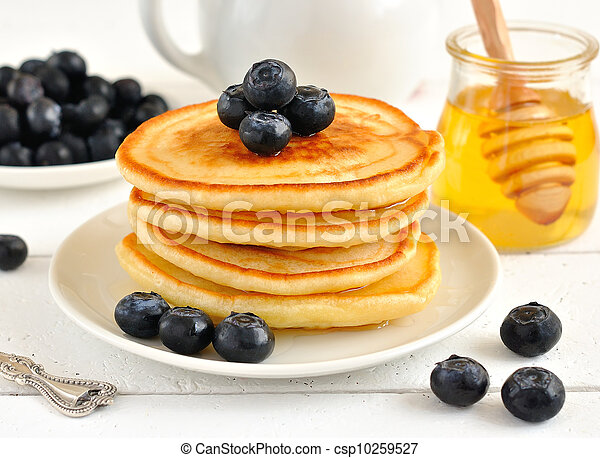 Pancakes with blueberries - csp10259527