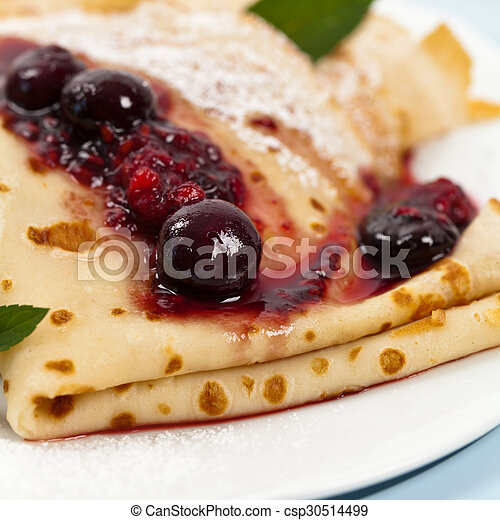 Pancakes with Blueberries - csp30514499