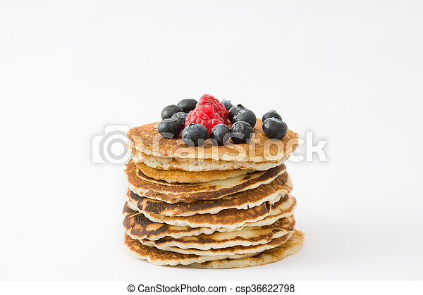 Pancakes with blueberries - csp36622798