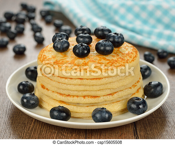 Pancakes with blueberries - csp15605508