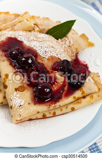 Pancakes with Blueberries - csp30514500