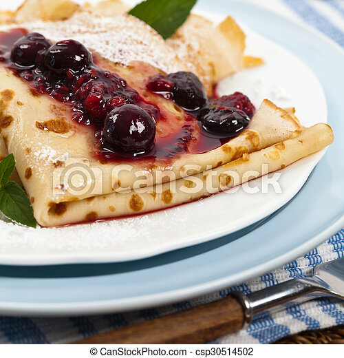 Pancakes with Blueberries - csp30514502