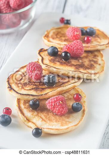 Pancakes with fresh berries - csp48811631
