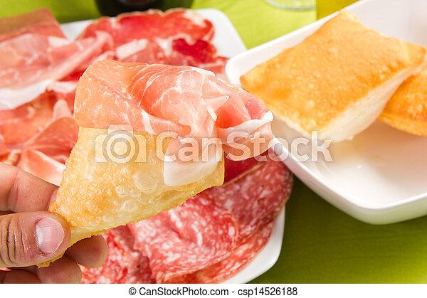 pancakes with ham - csp14526188