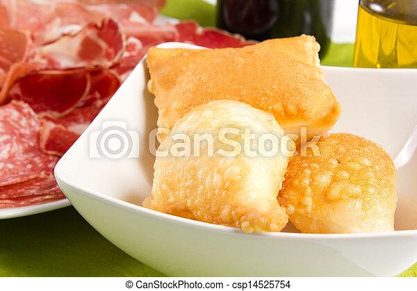 pancakes with ham - csp14525754