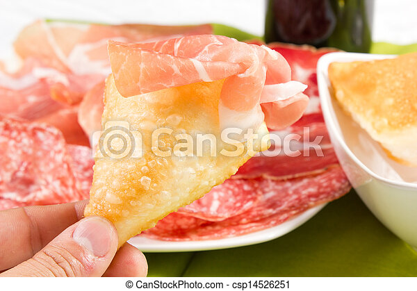 pancakes with ham - csp14526251