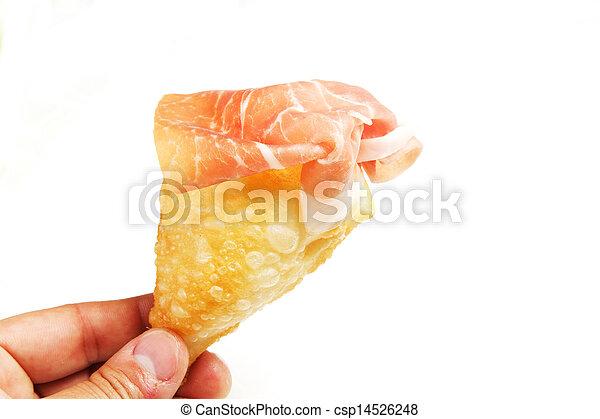 pancakes with ham - csp14526248