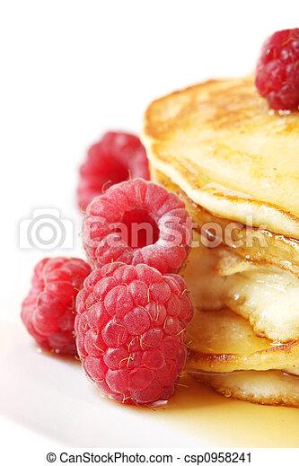 Pancakes with Raspberries - csp0958241